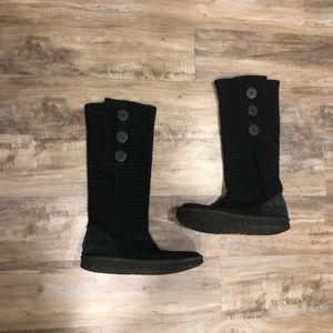 Ugg Australia Black Tall Cardy Boots